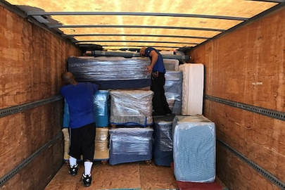 Loading truck with Roanoke Moving